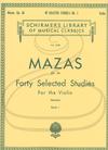 HAL LEONARD Mazas (Franko): 40 Selected Studies, Op.36, Bk.1 (violin) Schirmer