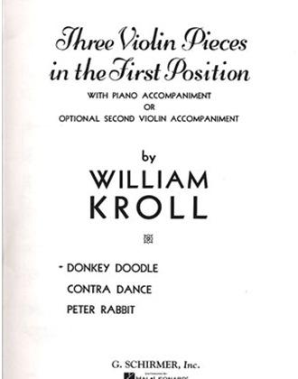 HAL LEONARD Kroll, William: Donkey Doodle (violin & piano w/ optional 2nd violin part)