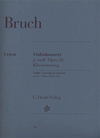 HAL LEONARD Bruch (Kube): Concerto No.1 in G minor, Op.26 - URTEXT (violin & piano reduction)