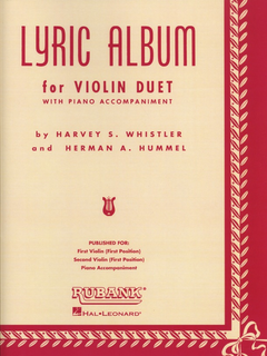 HAL LEONARD Whistler, Henry: Lyric Album (2 violins & piano)