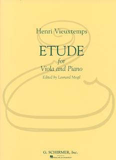 HAL LEONARD Vieuxtemps (Mogill): Etude (viola & piano) Schirmer