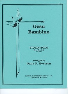 David E. Smith Yon/Martens (Everson, D. arr): Gesu Bambino, Level 3 (violin)