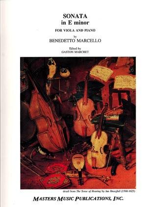 LudwigMasters Marcello, Benedetto (Marchet): Sonata in E minor (viola & piano)
