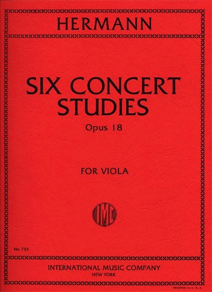 International Music Company Hermann, Friedrich: Six Concert Studies, Op. 18 (viola)