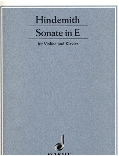 Hindemith, Paul: Sonata in E Major, 1935 (violin & piano)