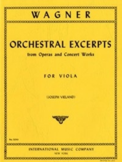 International Music Company Wagner, Richard: Orchestra Excerpts (viola)