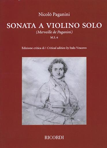 HAL LEONARD Paganini (Vescovo): Sonata a Violino Solo (violin)