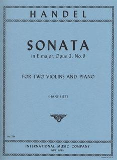 International Music Company Handel, G.F.: Sonata in E major Op.2#9 (2 Violins & Piano)