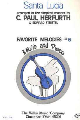 HAL LEONARD Herfurth: Santa Lucia (violin & piano)