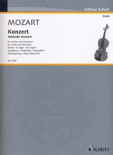 HAL LEONARD Mozart, W.A. (Casadesus): Violin Concerto in D ''Adelaide'' K.294a (violin & piano)