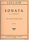 International Music Company Leclair, Jean-Marie: Sonata ''Le Tombeau''(violin & piano)