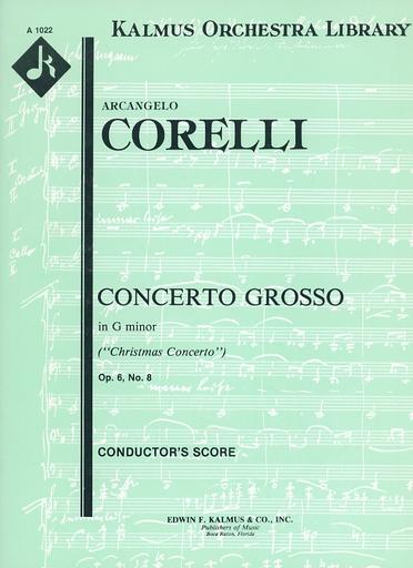 Alfred Music Corelli, A.: (Score) Concerto Grosso No.8, Op.6 - Fatto per la notte di natale ''Christmas Concerto'' (mixed ensemble)