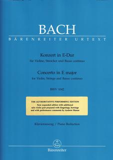 Barenreiter Bach, J.S. (Manze): Concerto in E major BWV 1042 (violin & piano) Barenreiter Urtext