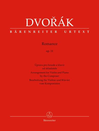 Barenreiter Dvorak, Antonin (Hajek): Romance op. 11 (Violin and Piano) Barenreiter