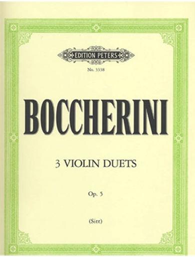 Boccherini, L. (Sitt): 3 Duos, Op.5 (two violins)