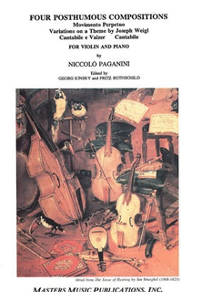 LudwigMasters Paganini, Niccolo: 4 Posthumous Compositions (violin & piano)