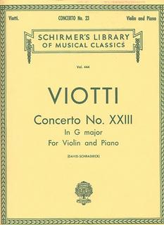 Schirmer Viotti, G.B.: Concerto No.23 in G (violin & piano)