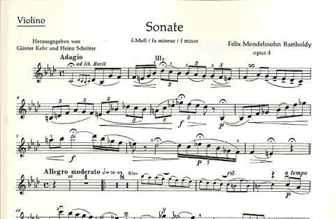 HAL LEONARD Mendelssohn, Felix: Sonate Op.4 (violin & piano)