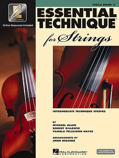 HAL LEONARD Allen, Gillespie, & Hayes: Essential Technique, Bk.3 (viola, online resources included)