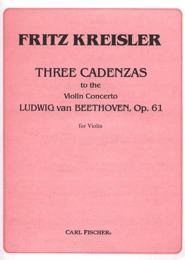 Carl Fischer Kreisler, F.: Three Cadenzas to the Beethoven Violin Concerto (violin) Carl Fischer
