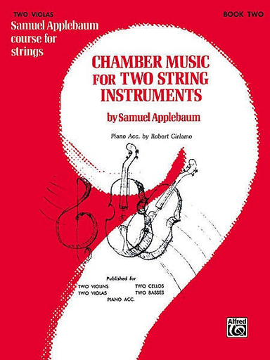Alfred Music Applebaum, S.: Chamber Music for Two String Instruments V.2 (2 violas)