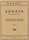 International Music Company Handel, G.F.: Sonata in F Major Op. 2, No.3 (two violins, and piano)