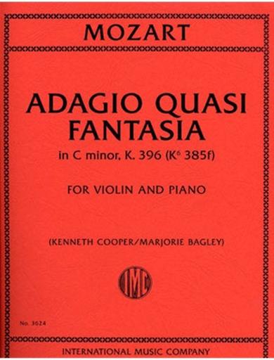 International Music Company Mozart, W.A.: Adagio Quasi Fantasia in C minor, K.396 (violin & piano)