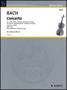HAL LEONARD Bach: Concerto No.1 in A minor, S.1041 (violin, piano) SCHOTT