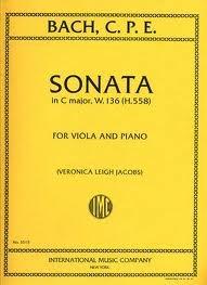 International Music Company Bach, C.P.E.: Sonata in C major W.136 (viola & piano)