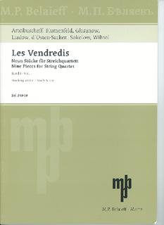 M.P. Belaieff Les Vendredis: SCORE String Quartet Collection, VOl. 1