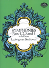 Dover Publications Beethoven: (Dover score) Symphonies Nos.5, 6 & 7 (full orchestra) Dover Publications