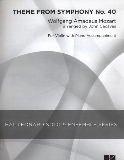 HAL LEONARD Mozart, W.A. (Cacavas): Theme from Symphoy No. 40 (violin & piano)