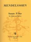 Mendelssohn (Unger): Sonata in F Major (1820)(violin & piano) Deutscher Verlag