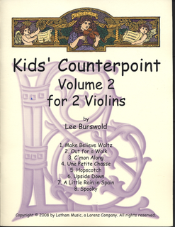 LudwigMasters Burswold, L.: Kids' Counterpoint, Volume 2 (two violins)