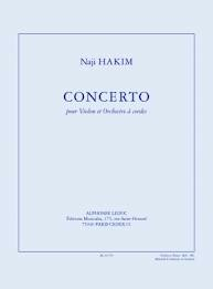 Hakim, Naji: Violin Concerto (violin & piano)