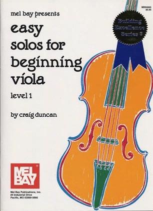 Duncan, Craig: Easy Solos for Beginning Viola (viola & piano)