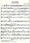Carl Fischer Chartreux, Annick: Fantaisie (violin & piano)