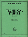 International Music Company Hermann, F.: Technical Studies Op.22 (viola)