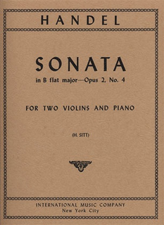 International Music Company Handel, G.F.: Sonata in Bb Op.2#4 (2 violins & piano)