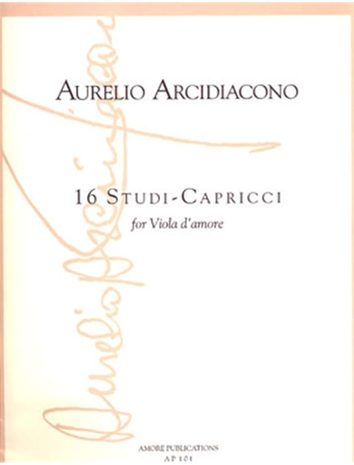 Arcidiacono, Aurelio: 16 Studi-Capricci (Viola d'amore)