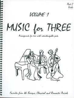 Last Resort Music Publishing Kelley, Daniel: Music for Three Vol.1 Favorites from the Baroque, Classical & Romantic Periods (viola)