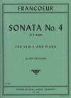 International Music Company Francoeur, Francois: Sonata No.4 in E major for viola & piano