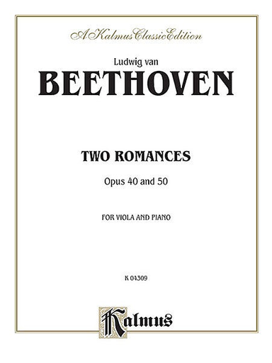 Alfred Music Beethoven, L.van: Two Romances Op.40 &50 (viola & piano)