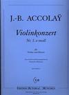 Accolay, J.B.: Violin Concerto No. 3 in e minor (violin & piano)