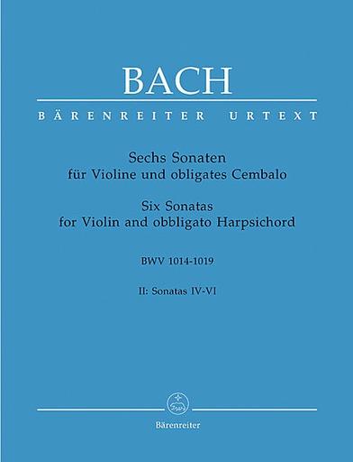 Barenreiter Bach, J.S.: 6 Violin Sonatas, Volume 2 (IV-VI) (Sonatas IV-VI) Barenreiter