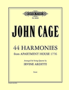 Cage, J. (Arditti): (Score) 44 Harmonies from Apartment House 1776 (string quartet)