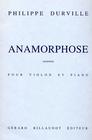 Carl Fischer Durville, Philippe: Anamorphose (violin & piano)