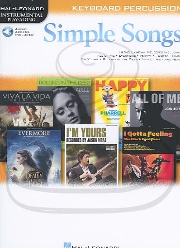 HAL LEONARD Hal Leonard Instrumental Play-Along: (collection) Simple Songs (keyboard percussion)(audio access) Hal Leonard