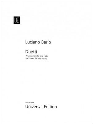 Carl Fischer Berio: Duetti (two violas) UE