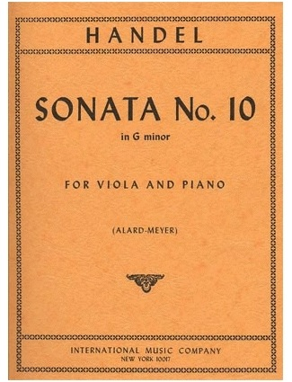 International Music Company Handel, G.F.: Sonata No.10 in G minor (viola & piano) POD